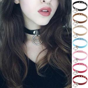 Nuevo diseñador de lujo de moda Harajuku hecho a mano sexy cuello redondo punk rock gótico gargantilla collar cinturón pares para mujeres anime collares
