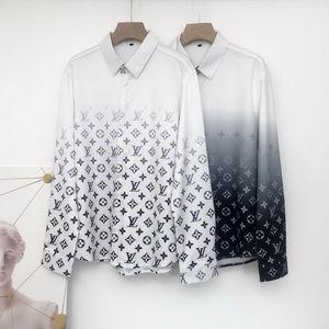 mens designer Slim Fit Shirts Men 3D Black Gold Floral Print Mens Dress Shirts Long Sleeved Business Casual Shirts Males Clothes