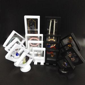 8Pcs PET Membrane Jewelry Display Case Bracciale Collana Orecchino Organizer Trasparente Accessori Guarda moneta Portacartella per campioni