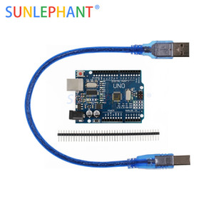 high quality One set UNO R3 CH340G+MEGA328P Chip 16Mhz For UNO R3 Development board USB CABLE MEGA 2560