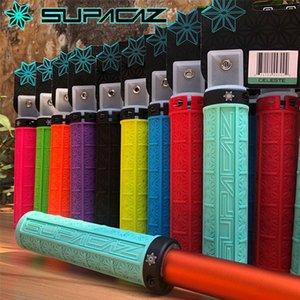 Supacaz MTB del manubrio della bici Grips Set Off-road silicone Single-sided antisdrucciolevoli Shock blocco Assorbimento Grip Grips 9 colori
