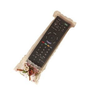 Cover for Remote Control Pastoral Style Creative Lace Fabric Container Holder Bag for TV Air Conditioning Remote Control