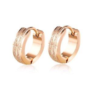 Stainless steel jewelry china factory hoop earrings Luxury designer jewelry women earrings rose gold plated fashion earrings