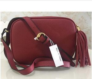 Top-Qualität 2020 NEUE Handtaschen Geldbeutel Handtaschen-Frauen Handtaschen Umhängetasche Soho-Tasche Disco-Umhängetasche mit Fransen Messenger Bags Purse 22cm