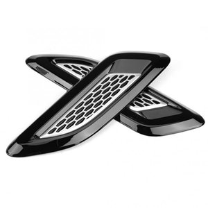 Для Land Rover Range Rover Evoque Черный Капот Воздухоотводное Отверстие Отделка Крыла 2012-2016