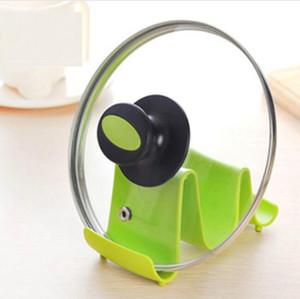 Dalga tarzı plastik pot kapak sahipleri tava pot kapak kapak klipler raf kaşık standı tutucu ekran pişirme araçları