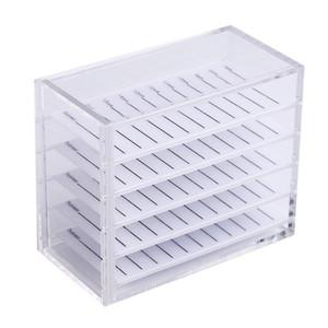 Organizer Salon Transparent Acrylic Pallet False Eyelashes Stand Makeup Cosmetic Storage Box Holder Display Individual 5 Layers