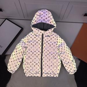 bambini 3M completa riflettente giacca leggera con cappuccio ragazzi ragazze Giacche Hip Hop impermeabile Windbreaker incappucciato Streetwear giù Cappotti