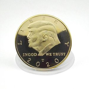 Moedas da moeda de ouro América Presidente Moeda Comemorativa Donald Trump lembrança 4CM banhado a ouro Commemorative Coin Collection presente DHC417