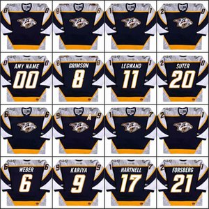 Nashville Predators 6 SHEA WEBER 8 STU GRIMSON 9 PAUL KARIYA 11 DAVID LEGWAND 17 SCOTT HARTNELL 20 RYAN SUTER 21 PETER FORSBERG