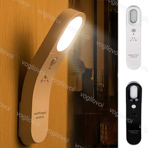 Sensore di movimento LED Night Lights luce 6LED 5V ricaricabile 6500K 3200K PC per Bagno Corridoio armadio letto Sala EUB