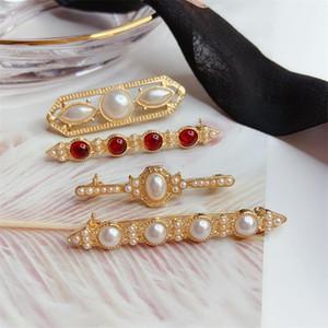 Pérola broche vintage pérola barroca Versátil jóias pin broche de casamento Prom Dress Pin para a mulher Presente de Natal Meninas