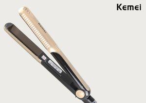 2020 Kemei 헤어 교정기 도매 온도 제어 머리 직선 무료 배송