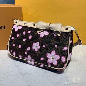 новая женская роскошная дизайнерская сумка Сумка M67760 cherry blossom and bow small shoulder bag mini storage bag top quality size 21 * 4 * 13cm