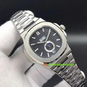 De lujo para hombre relojes mecánicos automáticos de calidad superior 5726 Nautilus relojes del deporte de la parte posterior transparente de la luna Fase Fecha reloj