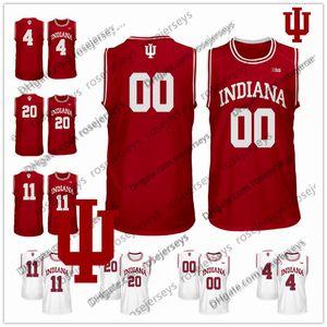 Custom Indiana Hoosiers College 농구 이름 번호 레드 화이트 4 Trayce Jackson-Davis Oladipo 0 랭 포드 11 Thomas Men Youth Jersey