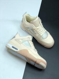 4 SP WMNS Voile Blanc Noir Hommes Mousseline de basket-ball formateurs chaussures chaussures de sport de sport Designer J4 Crème pour hommes avec boîte