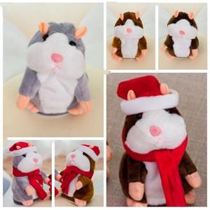 Eğitici Oyuncak Noel Çocuk Hediyeleri Konuşan Hamster Fare Hayvan Peluş Bebekler Konuşan Ses Kaydı Hamster Doldurulmuş Oyuncaklar 15cm CZYQ6329 konuşun
