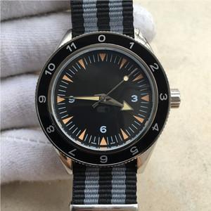 클래식 마스터 공동 축 방향 시계 41mm 투명 뒷 표지 자동 기계 블랙 사파이어 거울 고품질의 나일론 스트랩 다이얼