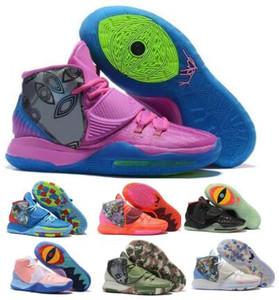 2020 Kyrie Erkek Basketbol Ayakkabı 6 Aydınlanma Kavramlar Khepri NYC Onceden Koleksiyonu Tokyo Manila Jet Mor Otantik 6s Ayakkabı Sneakers