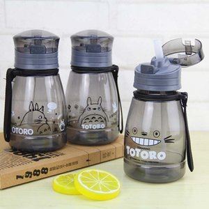 Nueva historieta Totoro Botella de agua Deporte portátil Camping Ciclismo Jugo Drinkware Plástico Niños Niños Botella de agua BPA Gratis