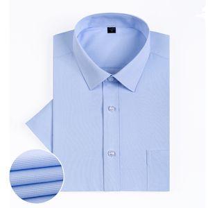 FillenGudd 2019 Slim fit Men Summer Shirts Short Sleeve Striped Checkered Casual Social Shirts Man Clothing China Fashion New