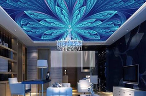 ev oturma odası yatak odası dekorasyonu Yeni Geliş Mural için 3D Deri Wallpaper Çiçekler Baskı streç tavan duvar kağıtları