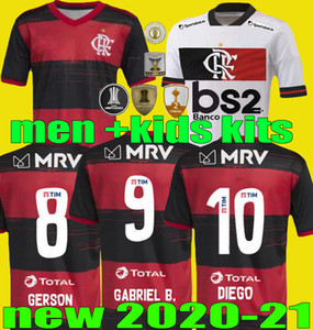 Hommes Camisa 2020 2021 CR Flamengo Soccer Jerseys Kids 20 21 Flamand Gabriel B. Diego Vinicius JR Version Brésil Flamenco Football Kits Shirt