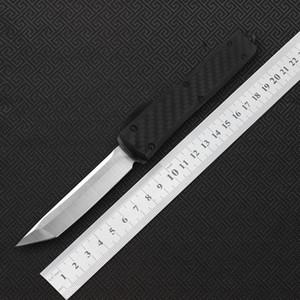 Cuchillo plegable de doble acción del cuchillo táctico de la fibra de carbono del estilo del cuchillo 12 de MIKER, fibra de carbono de acero de alta calidad VG10