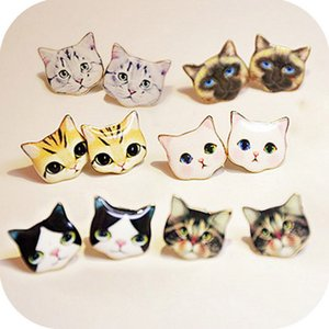High Quality Fashion Lovely Classic Cartoon Earrings Animal Korean Cute Solid Cat Stud Earrings For Girl Women Gift Jewelry