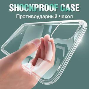 Funda de teléfono de silicona transparente Ultra fina para iPhone 11 Pro Max SE 2020, carcasa para iphone XR XS Max X 7 8 6 6S Plus, funda