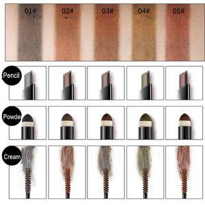 NYX Cosmetics Makeup 4 Colors Eyebrow Pencil + Eye Brow Powder + Cream 3 in 1 Foundation Make Up maquillaje