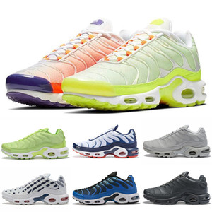 Top bon marché Mens Tn plus chaussures Rainbow Green Tn Ultra Sports Sneakers Sneakers Caushion Running Shoes 36-46