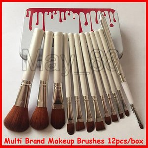 NEW M   KL   MF   N K makeup brush foundation powder blush makeup brushes high tech make up tools 12pcs set
