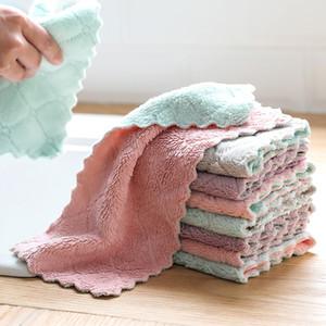 luluhut 8pcs / lot de serviettes en microfibre de maison pour la cuisine Absorbent tissu plus épais pour le nettoyage Micro fibre lingette serviette de cuisine de table