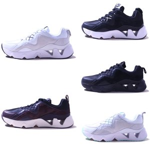 Leather mesh stitching rear air cushion breathable running shoes men womens athletic pink black white sports shoes discount cheap price