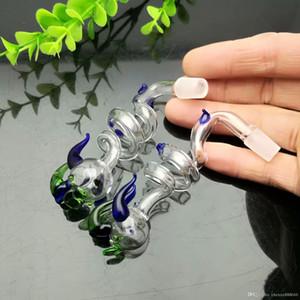 Farbe Spiral Tap Herd Große Pyrexglas Ölbrenner Rohr Thick Bohrinseln Glas Wasserrohr
