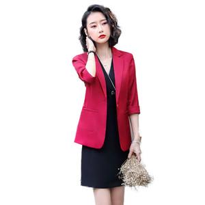 Bayanlar Akşam Şık Kostümler Ceket Kadın Elbise Takım Elbise Takım Office Aşınma Work ile Şarap Örgün Elbise Blazer Kadınlar Elbiseler