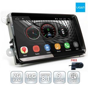 UGAR 9 inç Android 8.1 Volkswagen için Evrensel Android Ana Ünite GPS Navigasyon ile Araba DVD Radyo Çalar Araba Radyo Wifi Bluetooth