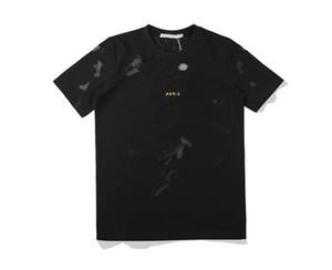 2020ss agujero diseño de la camiseta de lujo camiseta de pasarela camiseta de los hombres y mujeres de la alta calidad camisetas agujero negro de manga corta - 9620