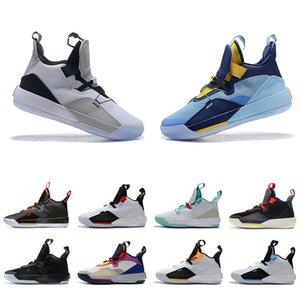 2019 Neue 33 XXXIII Blau Weiß Basketball Sportschuhe 33 s Luxus Designer Chinese New Year Sichtbare Utility Mens 33 s Sport Turnschuhe