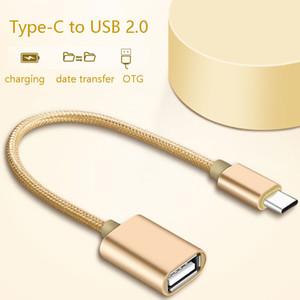 Type-C Homme à OTG USB adaptateur femelle Câble Pour Huawei Maté 30 Samsung Convertisseur de charge Cord Date de transfert