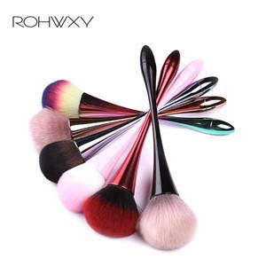 ROHWXY Nail Art coloré Cleaner poussière Brosse de nettoyage doux Brosse pour ongles en acrylique Poudre Gel UV Suppression de manucure Outils de maquillage