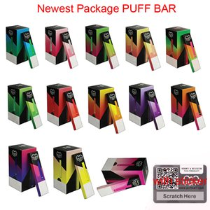 New Puff Bar à usage unique Vape Pod Starter Kit 280mAh batterie avec code de sécurité 1,3 ml Vape Pen