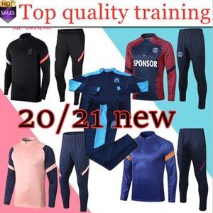 2020 2021 Марсель мужчины L.GUSTAVO Паой тренировка футбола костюм куртка 2019 2020 Париж футбол Tracksuit S-XXL