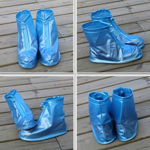 Unisexe Zipper pluie surchaussures Essentials Voyage Outdoor antidérapage Bottes de pluie Set Épaississement Chaussures Protector imperméable Boot Cover DBC DH0584