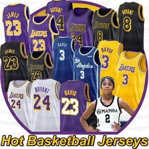 NCAA Gianna Maria Onore 2 Gigi LeBron James 23 Anthony 3 Davis Grande Jogadores de basquetebol da High School Jersey