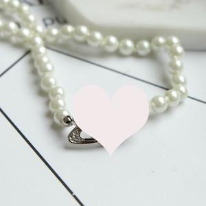 Hot strass Orb catena della clavicola della collana di Bling Bling satellitare della catena della perla della collana dei monili di modo per il partito regalo