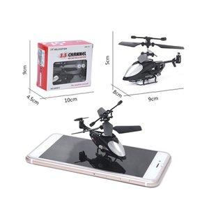 Jiroskop ile QS5010 3.5CH Mikro Kızılötesi RC Drone Uçak Uzaktan Kumanda Oyuncaklar Mini QS RC Helikopter köşeli kafa
