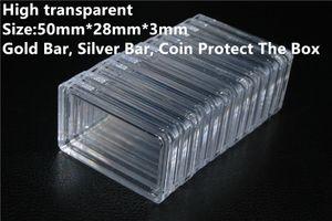 1 oz Gold Bullion Silver Bar Box Box en plastique transparent acrylique Protéger les métaux précieux de l'oxydation